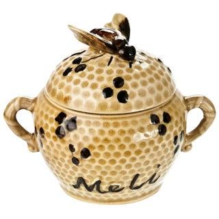 Vintage French Majolica Honey Pot