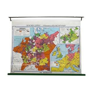 Vintage School Map of Germany