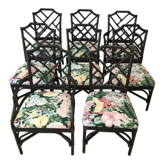 Palecek Pavillion Chippendale Chairs - Set of 8