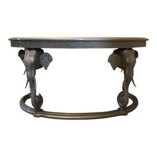 Vintage Lacquered & Carved Gampel-Stoll Elephant Desk