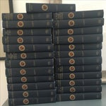 Image of Antique Blue Instant Library Books - Set of 25