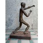 Image of Brutalist Nude Male Bronze Sculpture