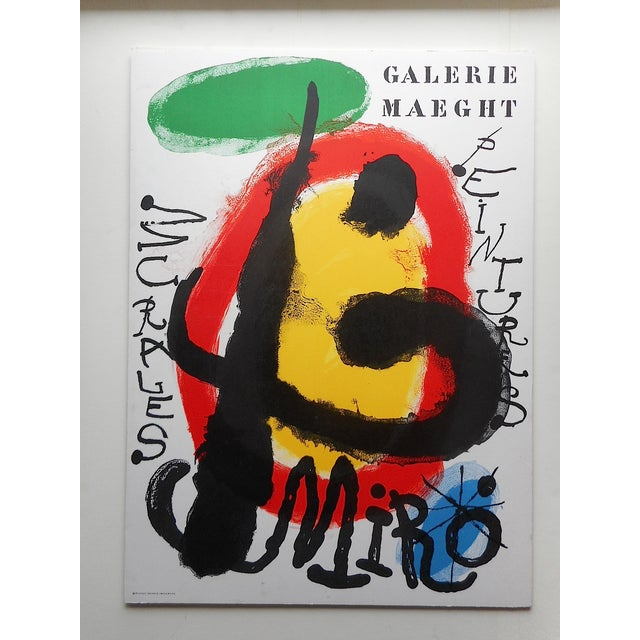 Image of Vintage Modern Joan Miro Lithograph