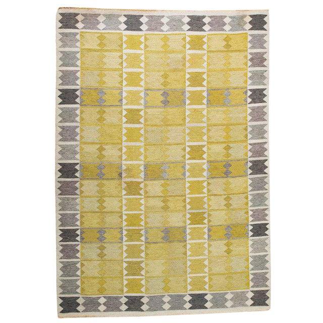 Vintage Ingrid Dessau Flat-Weave Swedish Carpet - Image 1 of 7