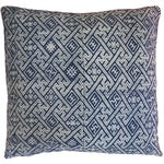 Image of New Hmong Indigo Wedding Blanket Pillow