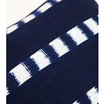 Image of Guatemalan Striped Indigo Handwoven Pillow