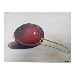 Ann Scheley Red Cherry Acrylic Painting