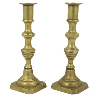 Solid Brass Candlesticks - A Pair