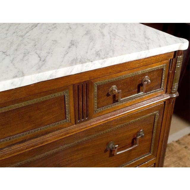 Maison Jansen Marble Top & Mahogany Commode - Image 5 of 9