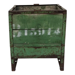 Vintage French Packing Crate Planter