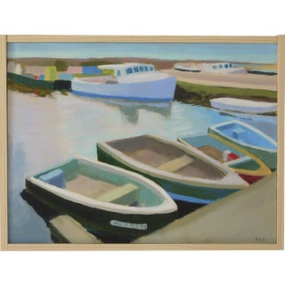 "Anne Carrozza Remick ""Harbor"" Original Painting"