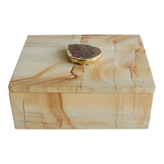 Solid Stone Picture Jasper Trinket Box