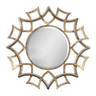 Large Metal Gold Round Mirror