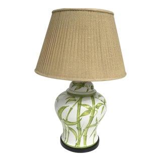 Mid-Century Ceramic Bamboo Motif Lamp