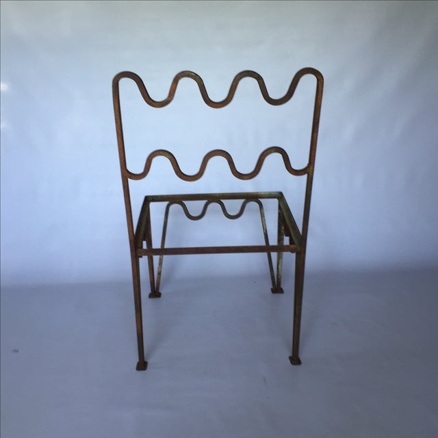 1940s Sculptural Modernist Iron Patio Chairs - 4 - Image 4 of 11