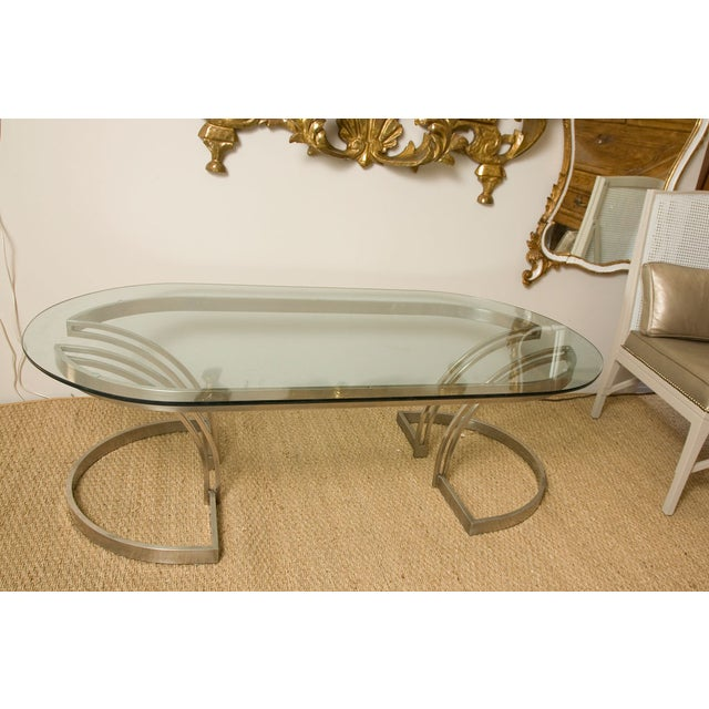 70's Art Deco Cantilevered Cocktail Coffee Table - Image 2 of 9