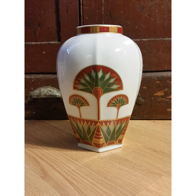 Signed Gail Levites Lotus Porcelain Vase Made in Japan - Image 2 of 6