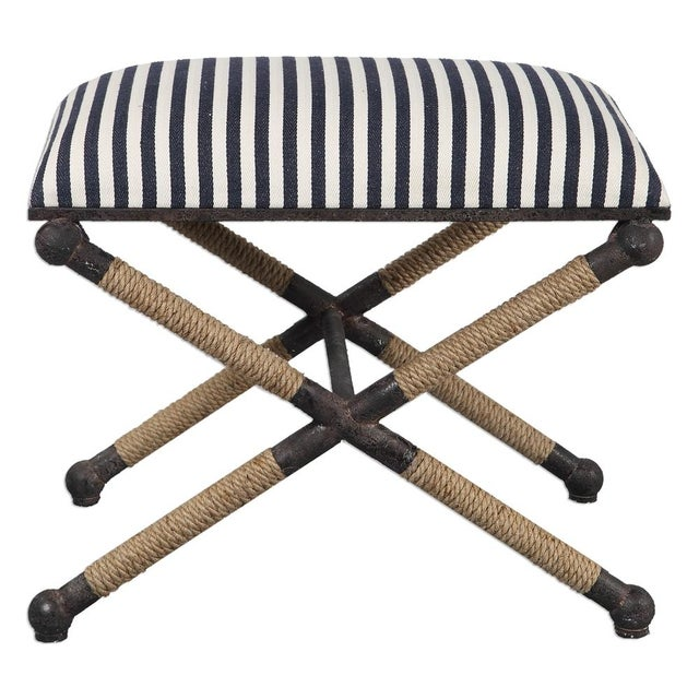 Nautical Striped Bench - Image 3 of 3