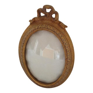 Gold Ribbon Oval Picture Frame