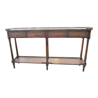 Vintage Console With Leather Inlay