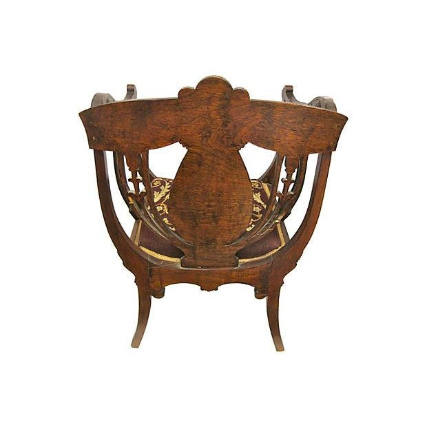 Inlaid Mahogany Armchair - Image 4 of 4