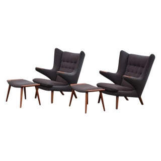 Hans J. Wegner Papa Bear Lounge Chairs - A Pair
