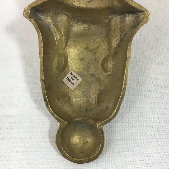Brass Florentine Wall Sconce Shelf - A Pair - Image 11 of 11