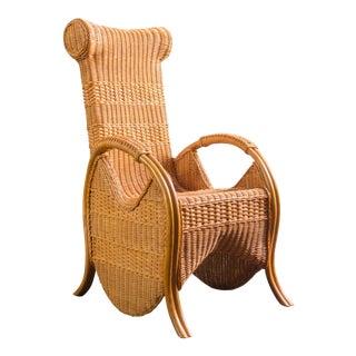 Vintage Wicker & Rattan Chair