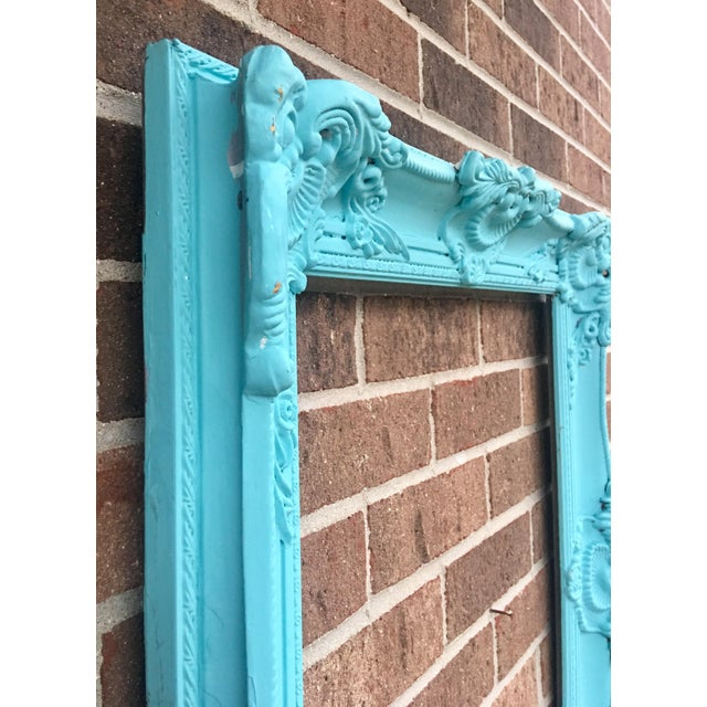 Antique Tiffany Blue Plaster Picture Frame - Image 9 of 10