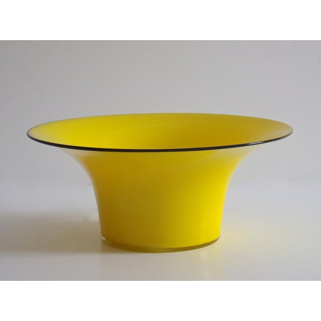 1920's Yellow Glass Bowl - Image 2 of 4