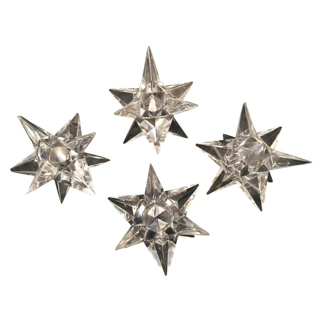 Rosenthal Crystal Star Candle Holders - 4 - Image 1 of 5