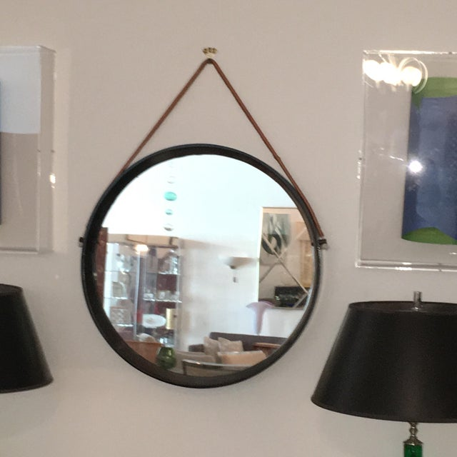 Image of Mirror in the Style of Jacques Adnet