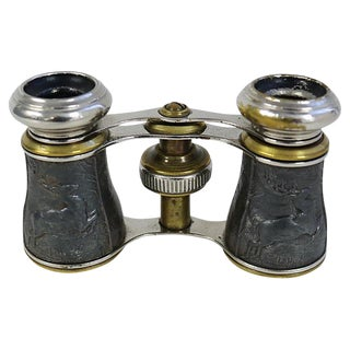 French Opera Glasses With Deer Pattern