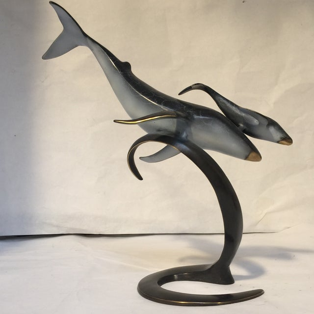 Image of Momma And Baby Whale Sculpture