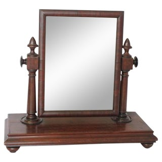 Large Antique Gentleman Vanity Mirror