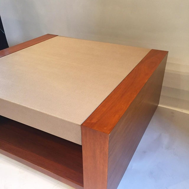 Image of Shagreen Solid Wooden Coffee Table