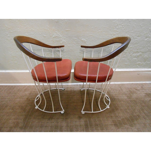 Mid-Century Modern Iron Based Dining Set - Image 8 of 10