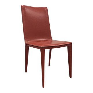 DWR Red Bottega Side Chair