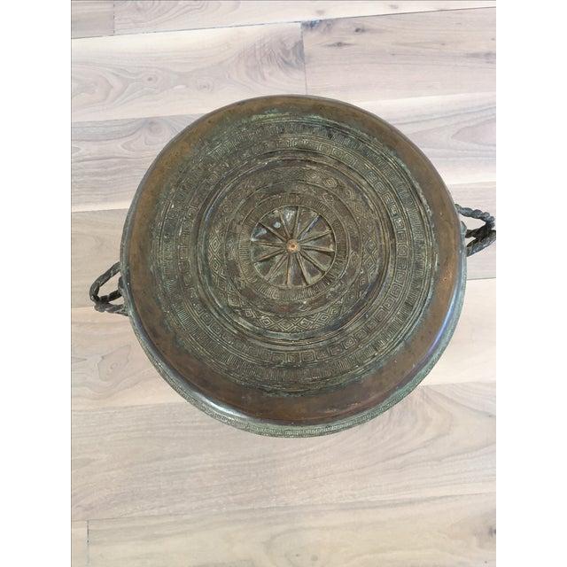 19th C Bronze Rain Drum Chairish