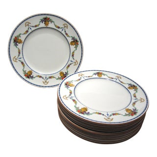 Cauldon Enameled Dinner Plates - Set of 10