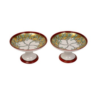 Hand-Painted French Compotes - Pair