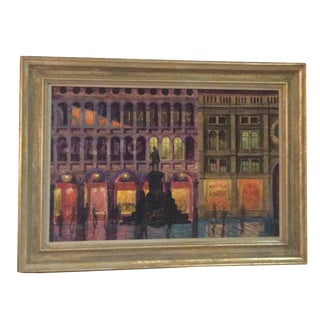 Original Abstract Streetscape Painting