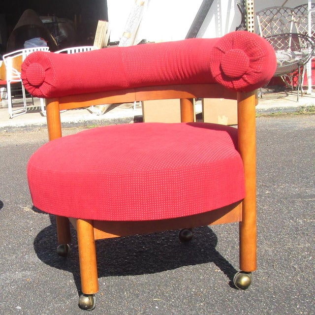 Mid Century Hollywood Regency Barrel Style Chairs - A Pair - Image 3 of 6