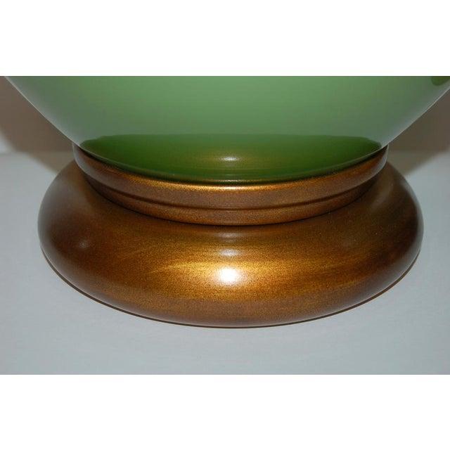 Marbro Handblown Swedish Green Lamps - Image 8 of 8