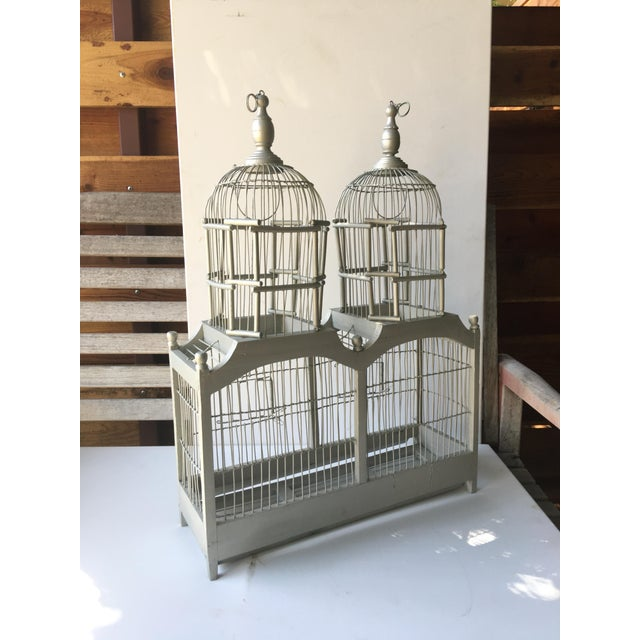 Summer Shimmer Wood Bird Cage - Image 4 of 4