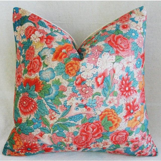 Sale! 4 Summer Floral Linen Pillow Covers - Set 4 - Image 4 of 9
