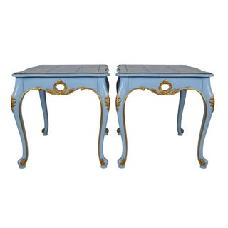French-Style Side Tables - Pair