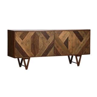 Mid-Century Style Geometric Pattern Sideboard