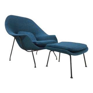Eero Saarinen for Knoll First Generation Womb Chair & Ottoman