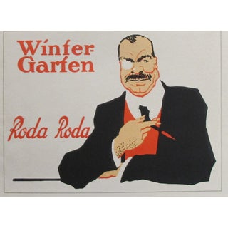 Original 1927 German Roda Roda Lithographic Poster